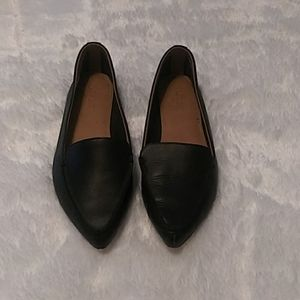 Size 9.5 Black J. Crew Edie Leather Loafers